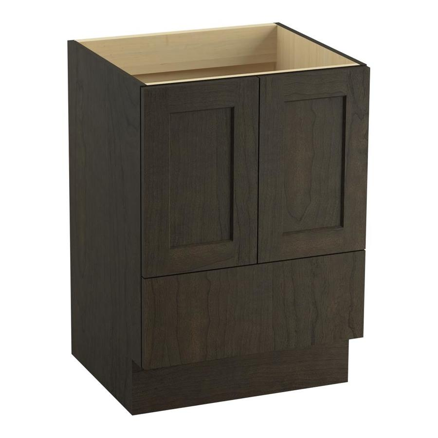 KOHLER Poplin Felt Grey Bathroom Vanity (Common: 24-in x 22-in; Actual: 24-in x 21.87-in)