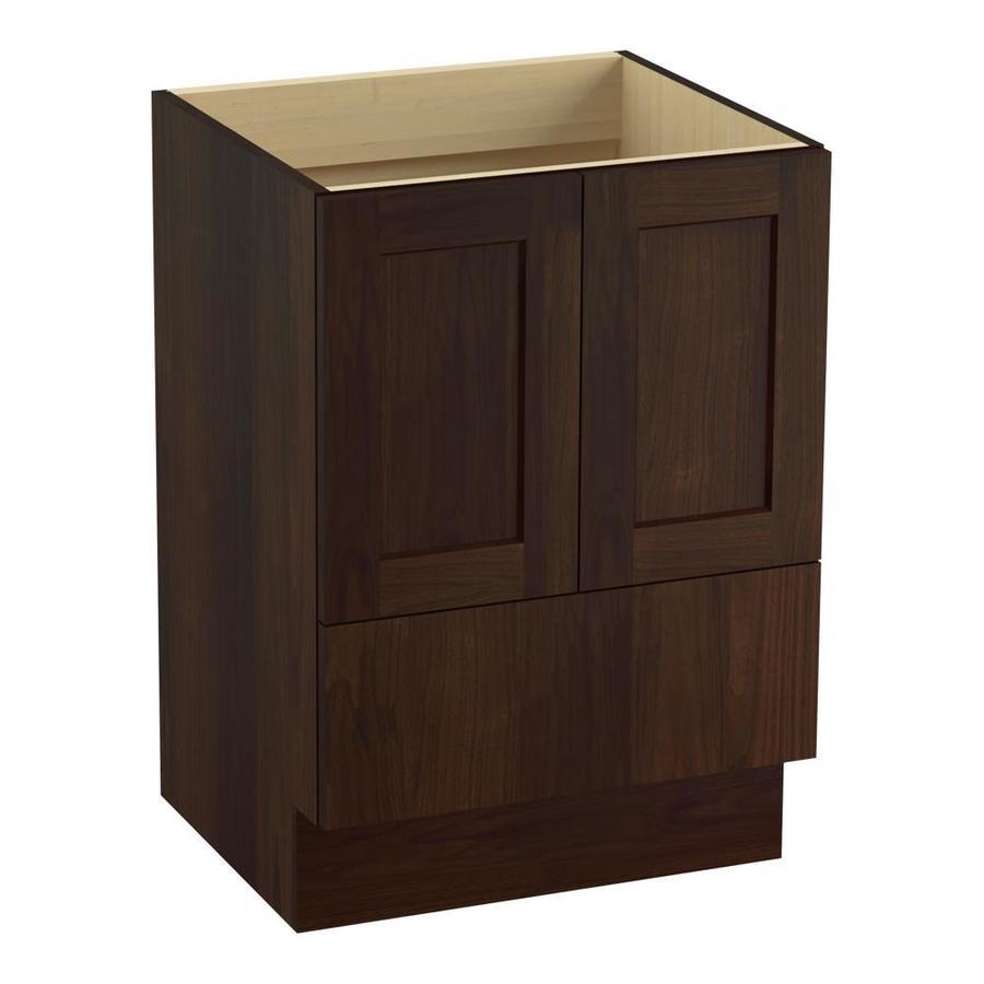 KOHLER Poplin Ramie Walnut Bathroom Vanity (Common: 24-in x 22-in; Actual: 24-in x 21.87-in)