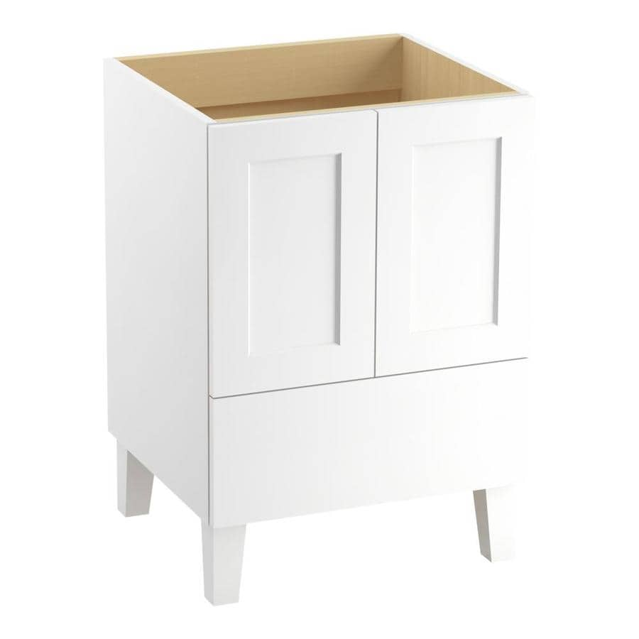 KOHLER Poplin Linen White Bathroom Vanity (Common: 24-in x 22-in; Actual: 24-in x 21.87-in)
