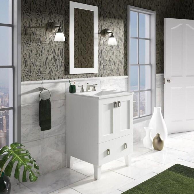 kohler poplin 24in linen white bathroom vanity cabinet in
