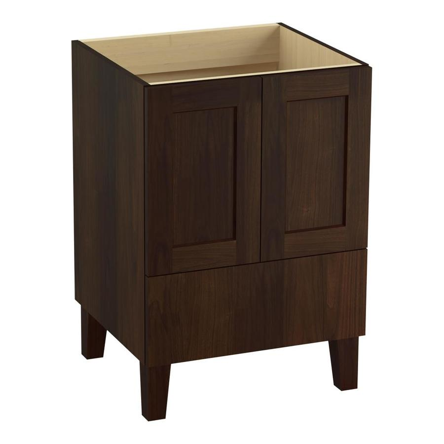 KOHLER Poplin Ramie Walnut 24-in Traditional Bathroom Vanity