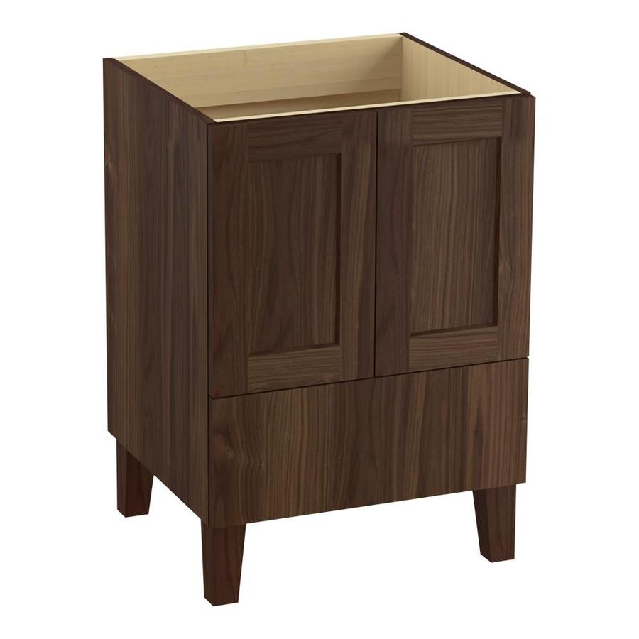 KOHLER Poplin Terry Walnut (Common: 24-in x 22-in) Traditional Bathroom Vanity (Actual: 24-in x 21.875-in)