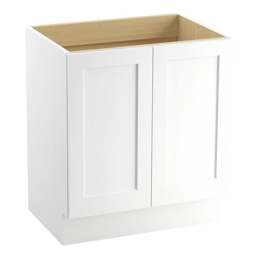 KOHLER Poplin Linen White 30-in Traditional Bathroom Vanity