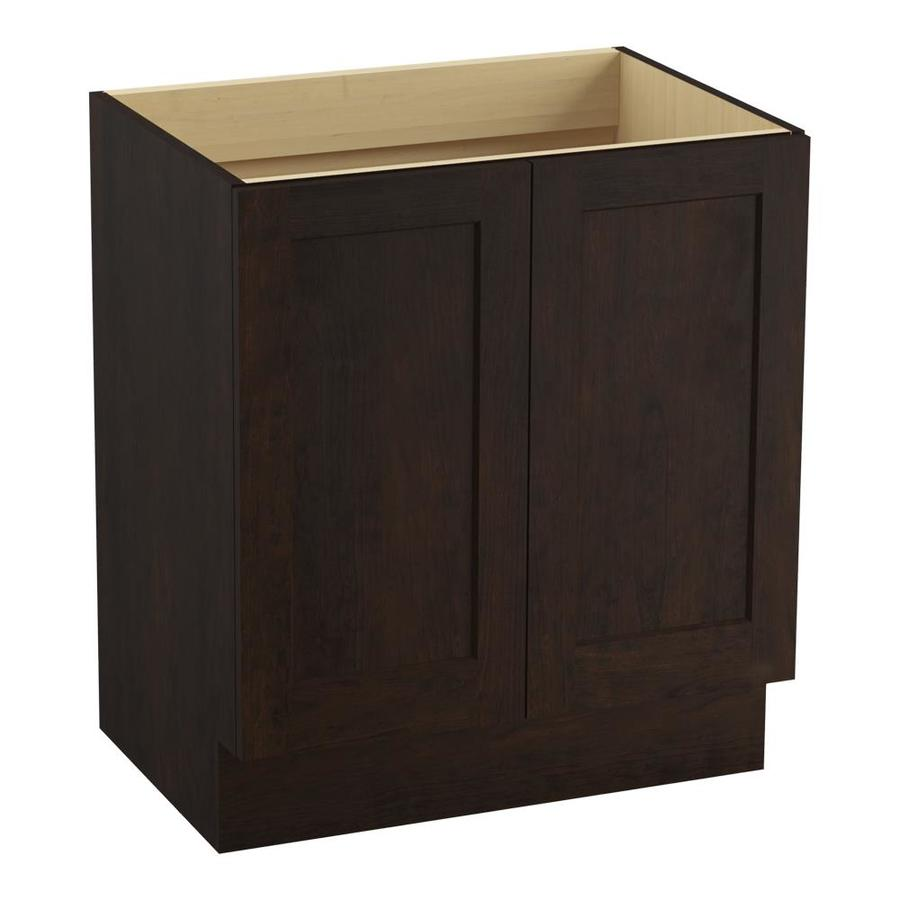 KOHLER Poplin Claret Suede Bathroom Vanity (Common: 30-in x 22-in; Actual: 30-in x 21.87-in)