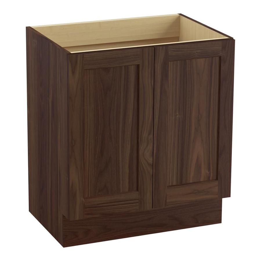 KOHLER Poplin Terry Walnut 30-in Traditional Bathroom Vanity