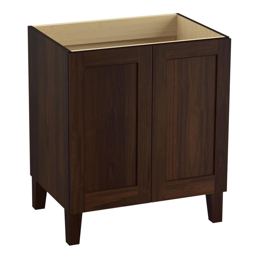 KOHLER Poplin Ramie Walnut Bathroom Vanity (Common: 30-in x 22-in; Actual: 30-in x 21.87-in)