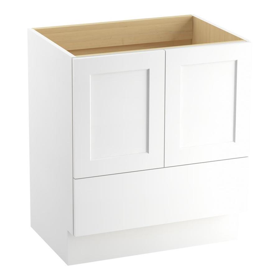 KOHLER Poplin 30-in Linen White Traditional Bathroom Vanity