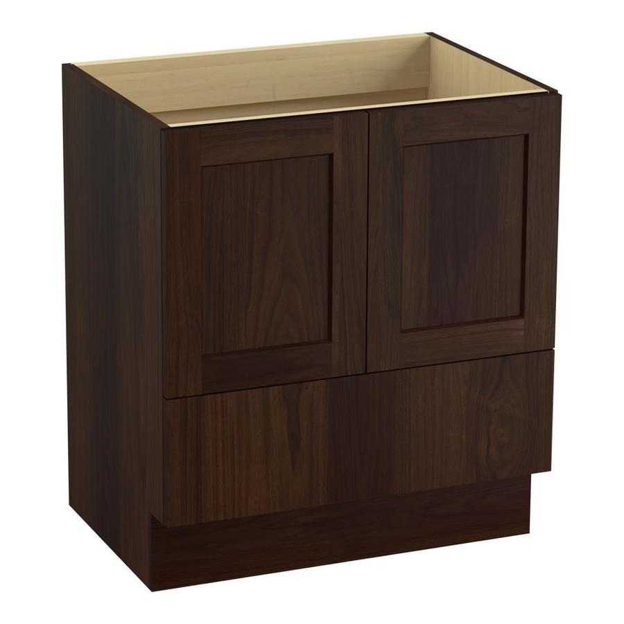 KOHLER Poplin Ramie Walnut Bathroom Vanity (Common: 30-in x 22-in; Actual: 30-in x 21.87-in)