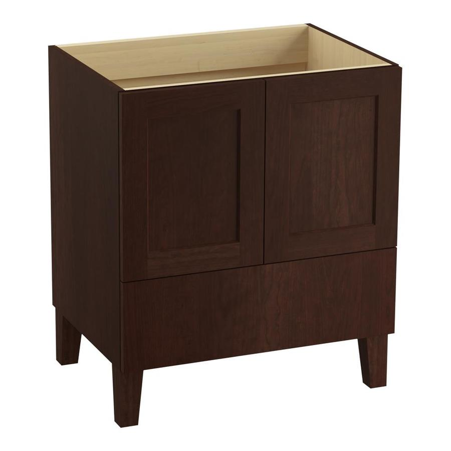 KOHLER Poplin 30-in Cherry Tweed Traditional Bathroom Vanity
