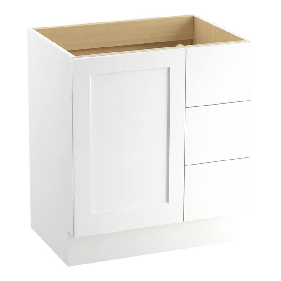 KOHLER Poplin Linen White Bathroom Vanity (Common: 30-in x 22-in; Actual: 30-in x 21.87-in)
