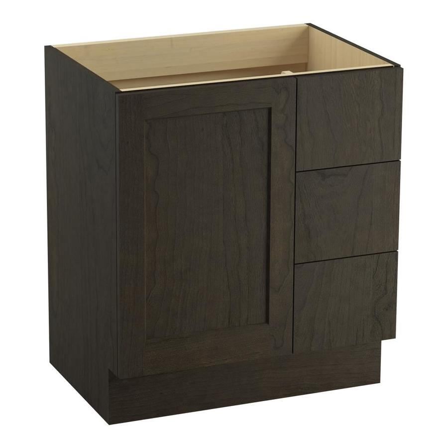 KOHLER Poplin Felt Grey Bathroom Vanity (Common: 30-in x 22-in; Actual: 30-in x 21.87-in)