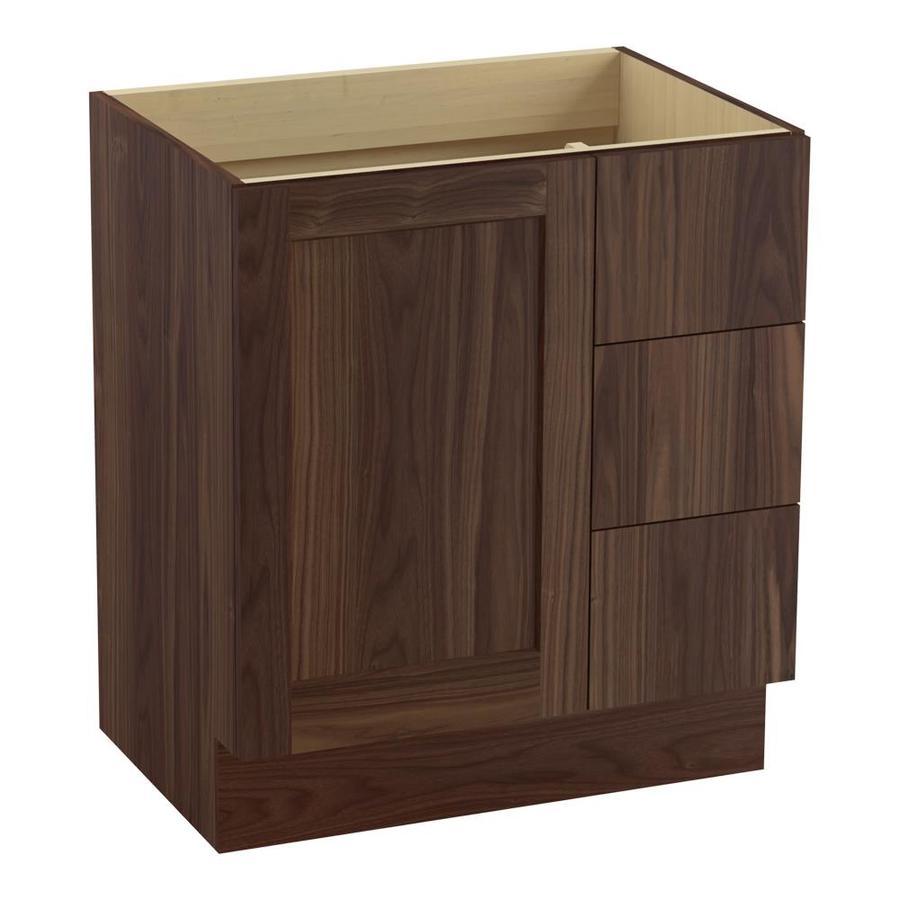 KOHLER Poplin Terry Walnut Bathroom Vanity (Common: 30-in x 22-in; Actual: 30-in x 21.87-in)