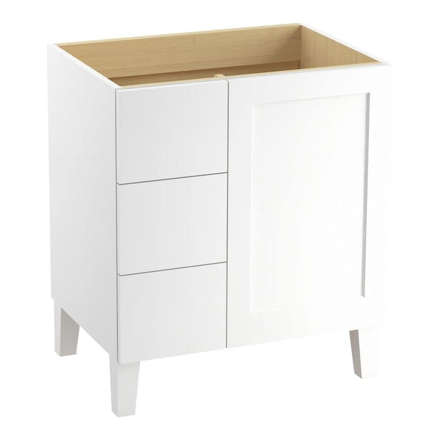 KOHLER Poplin Linen White Bathroom Vanity (Common: 30-in x 22-in; Actual: 30-in x 21.87-in)