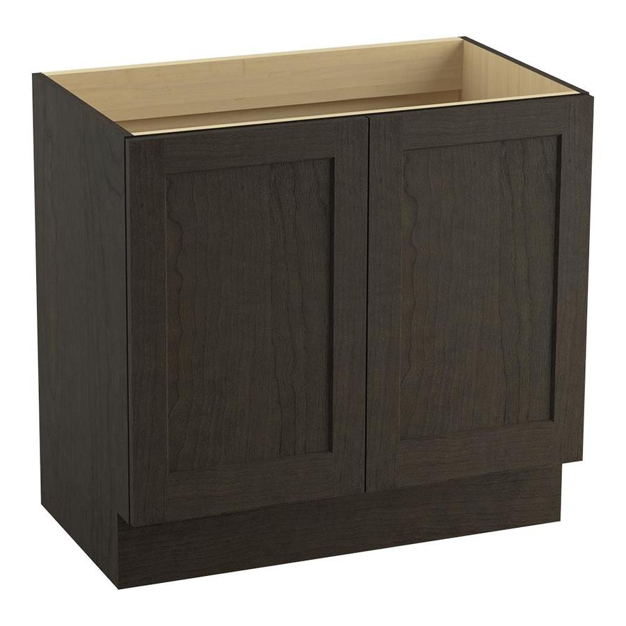 KOHLER Poplin Felt Grey Bathroom Vanity (Common: 36-in x 22-in; Actual: 36-in x 21.87-in)