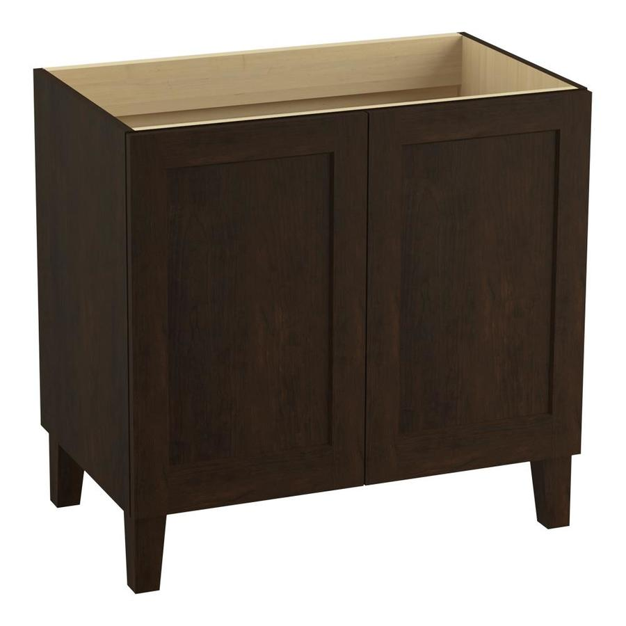 KOHLER Poplin 36.0-in Claret Suede Traditional Bathroom Vanity