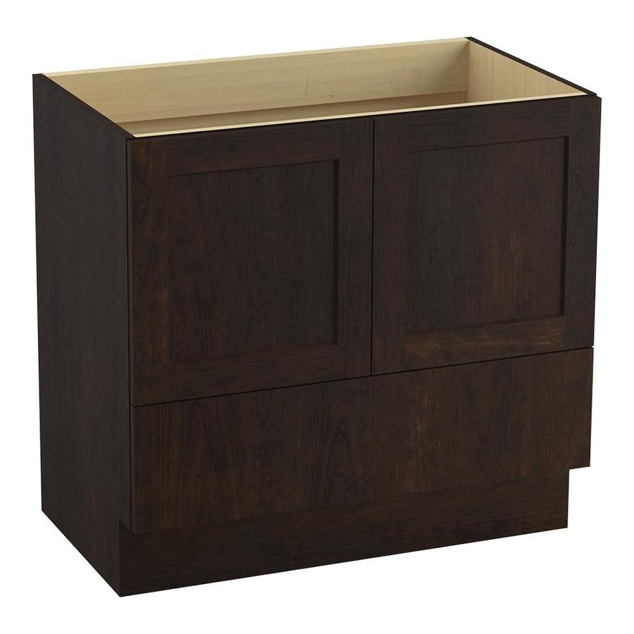 KOHLER Poplin Claret Suede Bathroom Vanity (Common: 36-in x 22-in; Actual: 36-in x 21.87-in)
