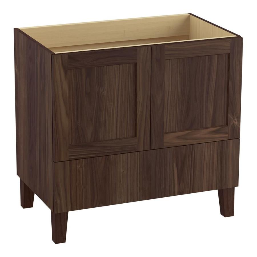 KOHLER Poplin Terry Walnut (Common: 36-in x 22-in) Traditional Bathroom Vanity (Actual: 36-in x 21.875-in)