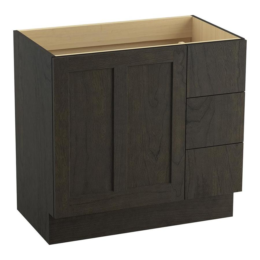 KOHLER Poplin Felt Grey (Common: 36-in x 22-in) Traditional Bathroom Vanity (Actual: 36-in x 21.875-in)