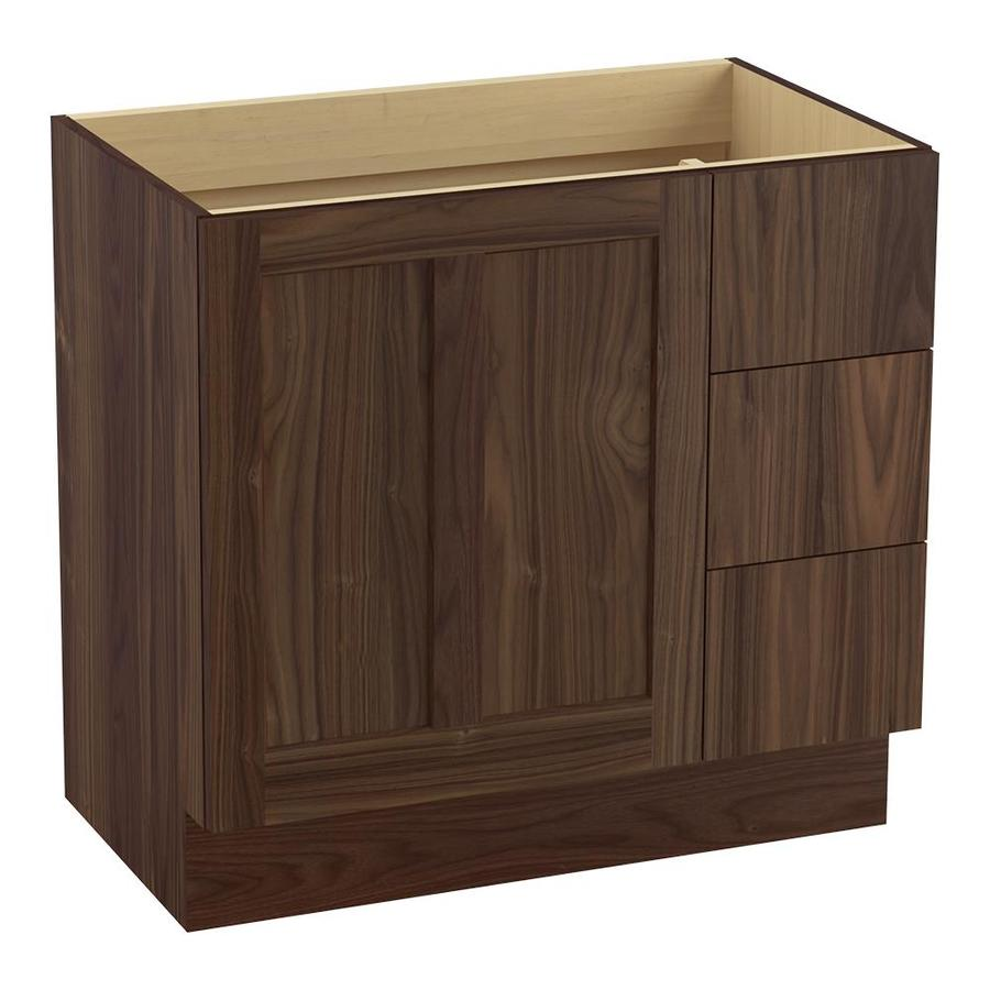 KOHLER Poplin Terry Walnut Bathroom Vanity (Common: 36-in x 22-in; Actual: 36-in x 21.87-in)