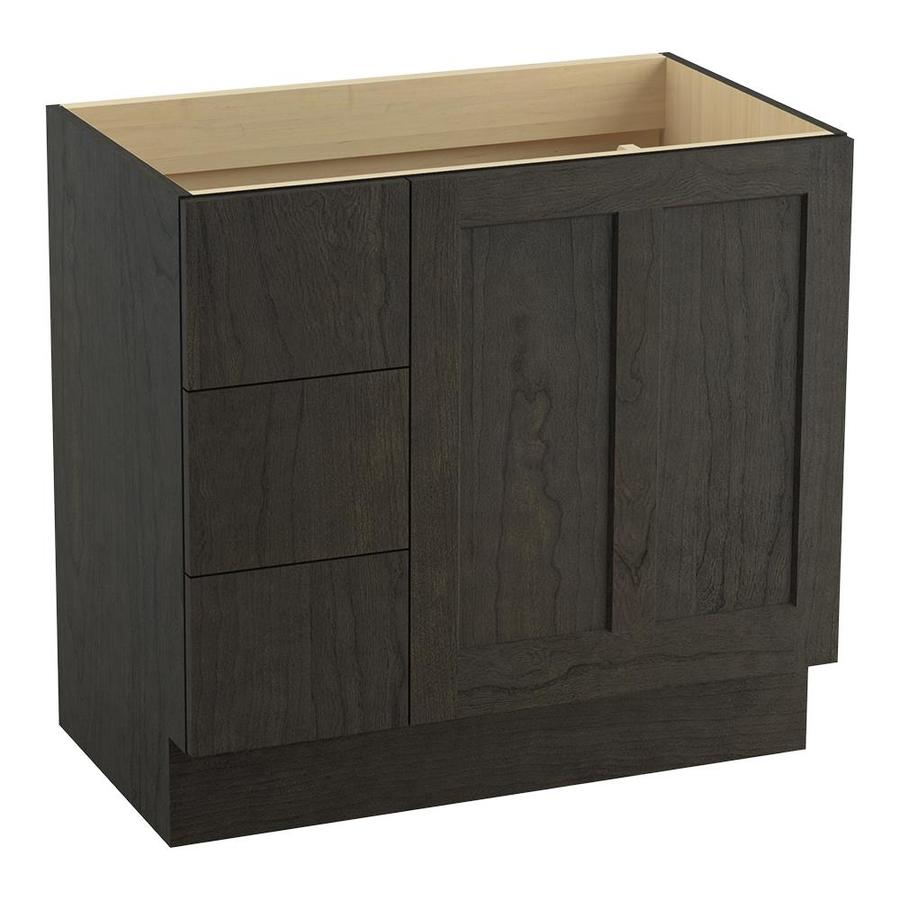 KOHLER Poplin Felt Grey (Common: 36-in x 22-in) Traditional Bathroom Vanity (Actual: 36-in x 21.875-in)