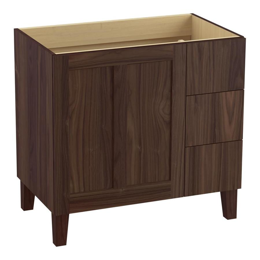 KOHLER Poplin Terry Walnut 36-in Traditional Bathroom Vanity