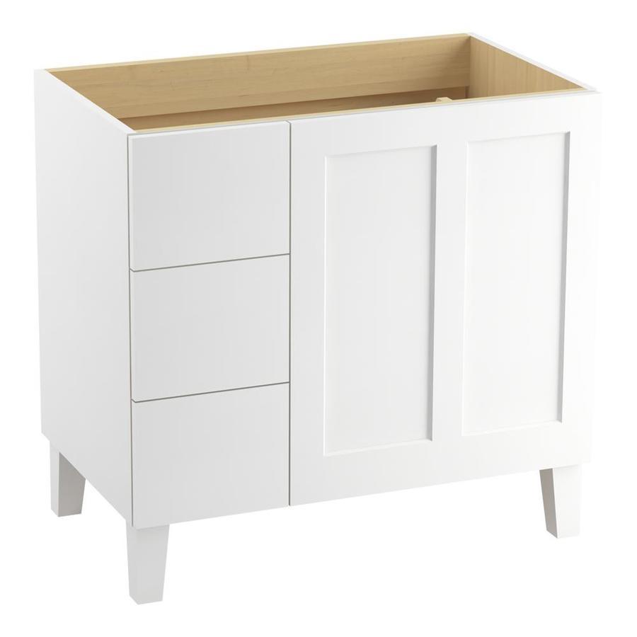KOHLER Poplin Linen White Bathroom Vanity (Common: 36-in x 22-in; Actual: 36-in x 21.87-in)