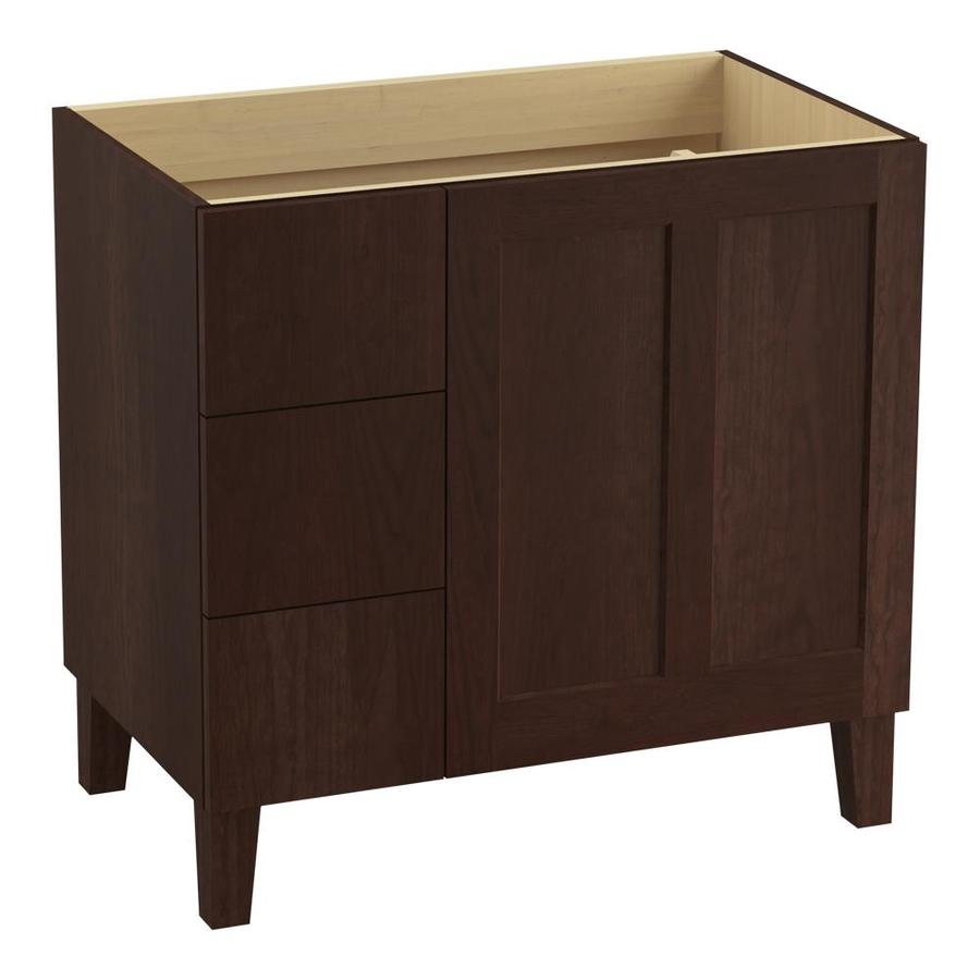 KOHLER Poplin Cherry Tweed Bathroom Vanity (Common: 36-in x 22-in; Actual: 36-in x 21.87-in)