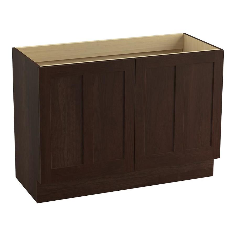 KOHLER Poplin Cherry Tweed Bathroom Vanity (Common: 48-in x 22-in; Actual: 48-in x 21.87-in)