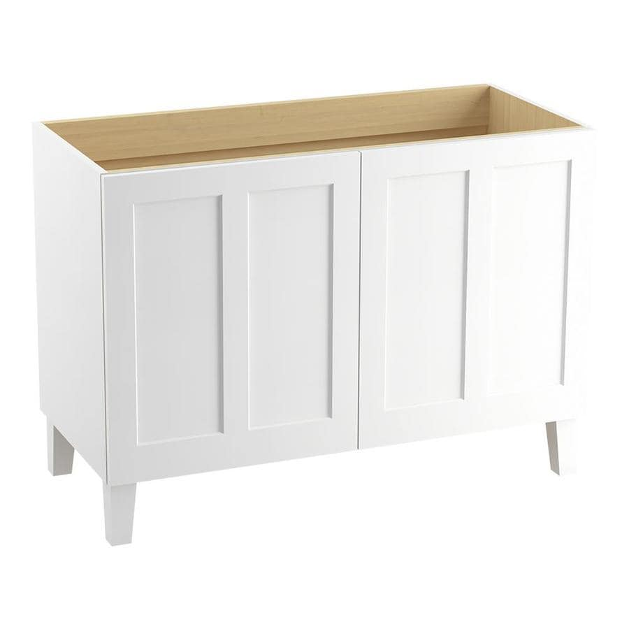 KOHLER Poplin Linen White Bathroom Vanity (Common: 48-in x 22-in; Actual: 48-in x 21.87-in)