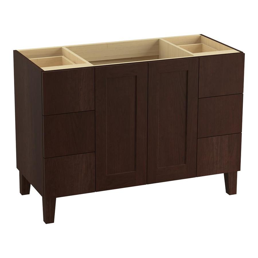 KOHLER Poplin Cherry Tweed (Common: 48-in x 22-in) Traditional Bathroom Vanity (Actual: 48-in x 21.875-in)