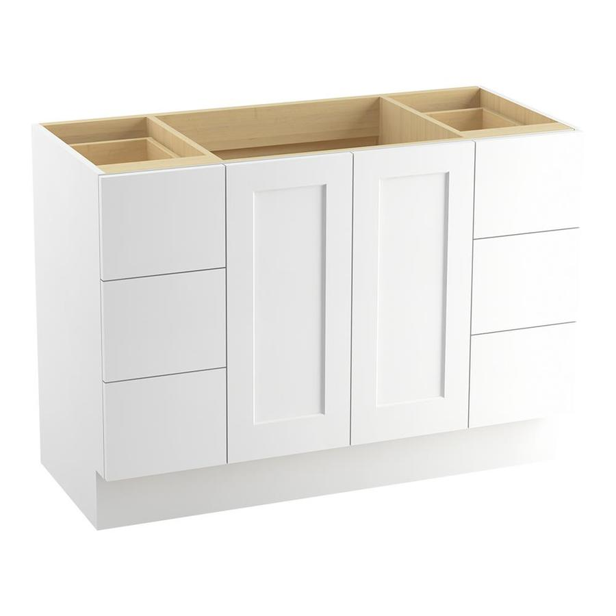KOHLER Poplin Linen White Bathroom Vanity (Common: 48-in x 22-in; Actual: 48-in x 21.87-in)