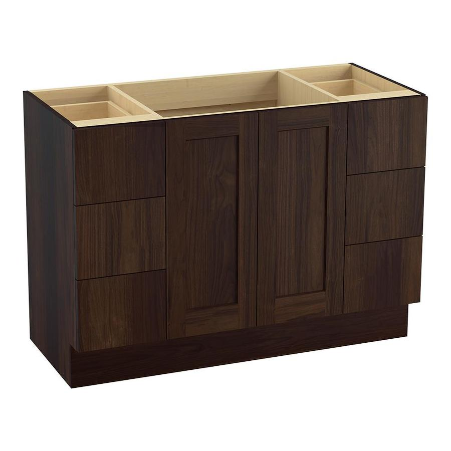KOHLER Poplin Ramie Walnut Bathroom Vanity (Common: 48-in x 22-in; Actual: 48-in x 21.87-in)