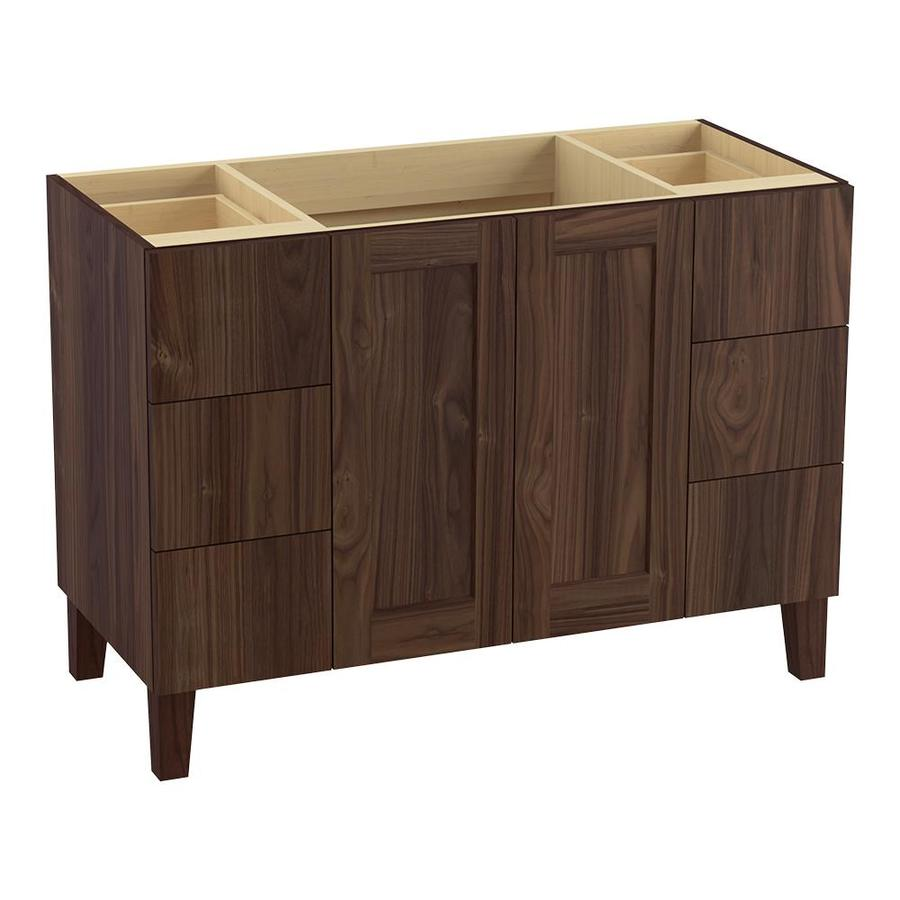KOHLER Poplin 48-in Terry Walnut Traditional Bathroom Vanity
