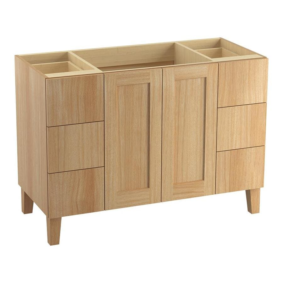 KOHLER Poplin Khaki White Oak Bathroom Vanity (Common: 48-in x 22-in; Actual: 48-in x 21.87-in)
