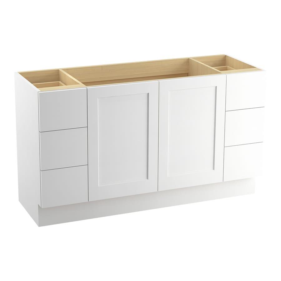 KOHLER Poplin Linen White Bathroom Vanity (Common: 60-in x 22-in; Actual: 60-in x 21.87-in)