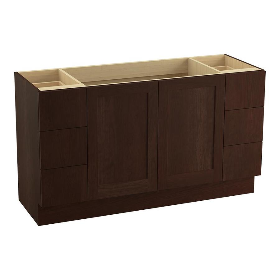KOHLER Poplin Cherry Tweed Bathroom Vanity (Common: 60-in x 22-in; Actual: 60-in x 21.87-in)