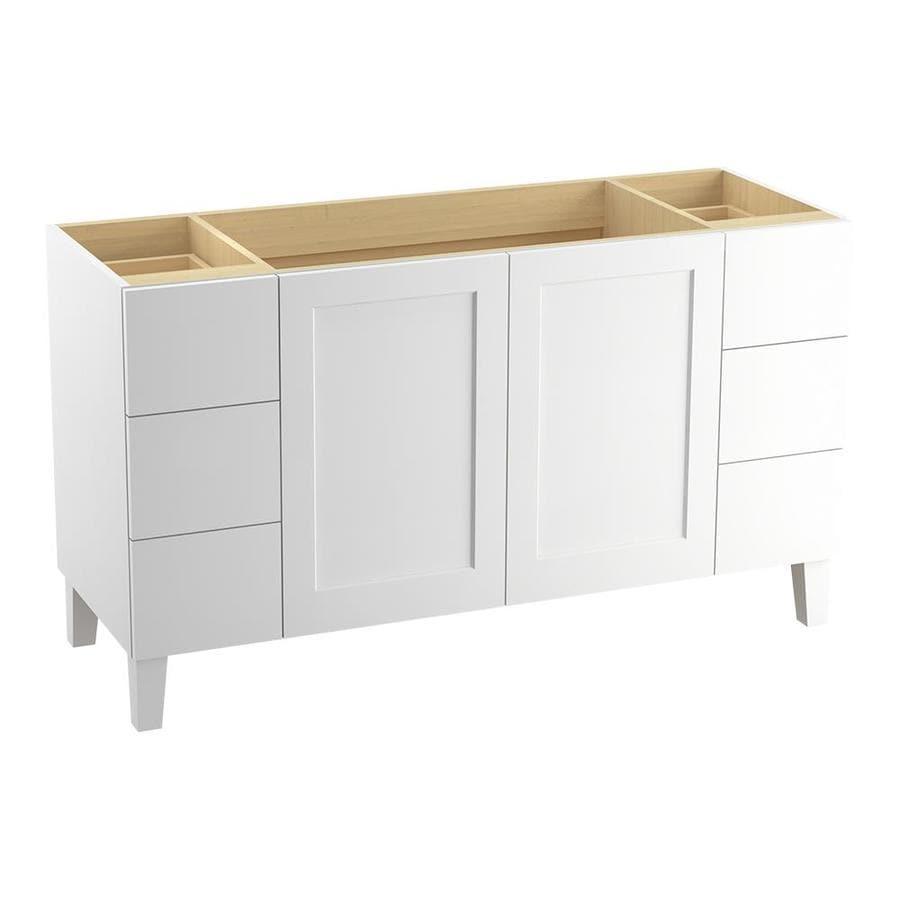 KOHLER Poplin Linen White (Common: 60-in x 22-in) Traditional Bathroom Vanity (Actual: 60-in x 21.875-in)