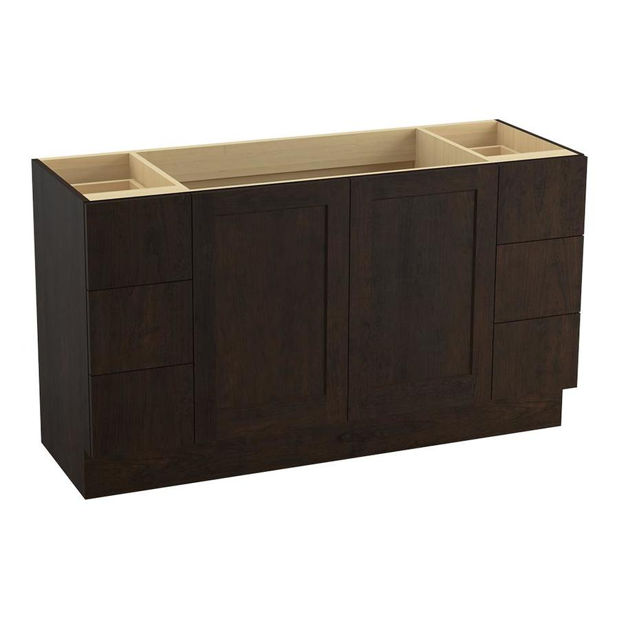 KOHLER Poplin Claret Suede Bathroom Vanity (Common: 60-in x 22-in; Actual: 60-in x 21.87-in)