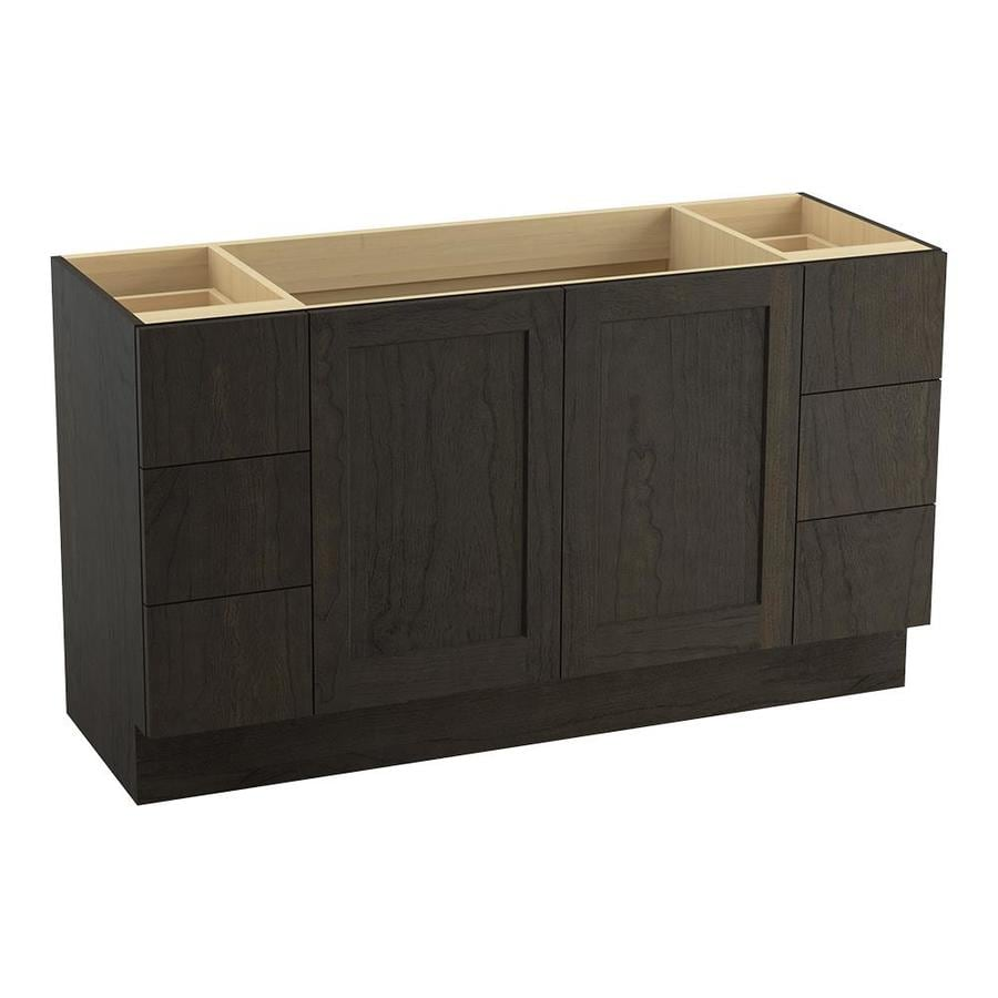KOHLER Poplin Felt Grey 60-in Traditional Bathroom Vanity