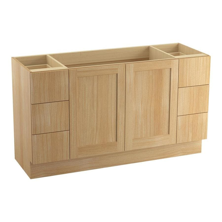KOHLER Poplin Khaki White Oak 60-in Traditional Bathroom Vanity