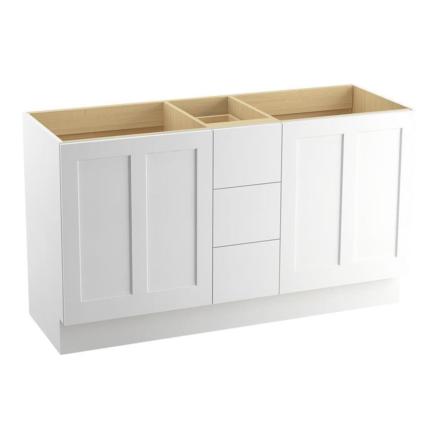 KOHLER Poplin Linen White Bathroom Vanity (Common: 60-in x 22-in; Actual: 60-in x 21.87-in)