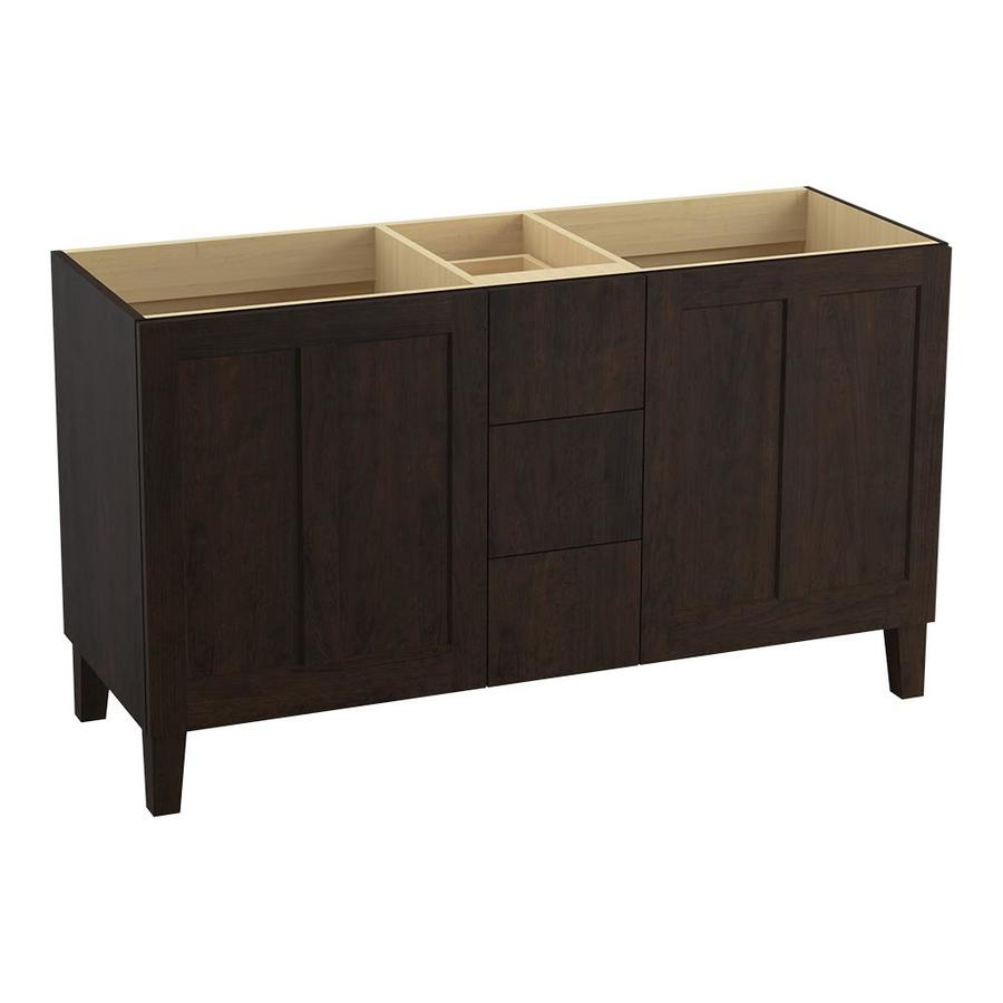 KOHLER Poplin Claret Suede 60-in Traditional Bathroom Vanity