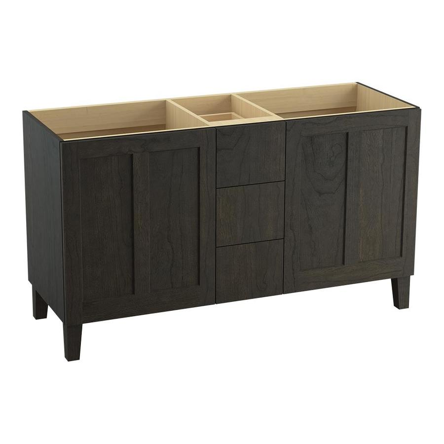 KOHLER Poplin Felt Grey Bathroom Vanity (Common: 60-in x 22-in; Actual: 60-in x 21.87-in)