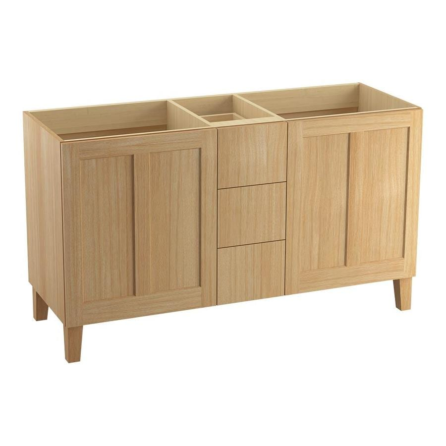 KOHLER Poplin Khaki White Oak Bathroom Vanity (Common: 60-in x 22-in; Actual: 60-in x 21.87-in)