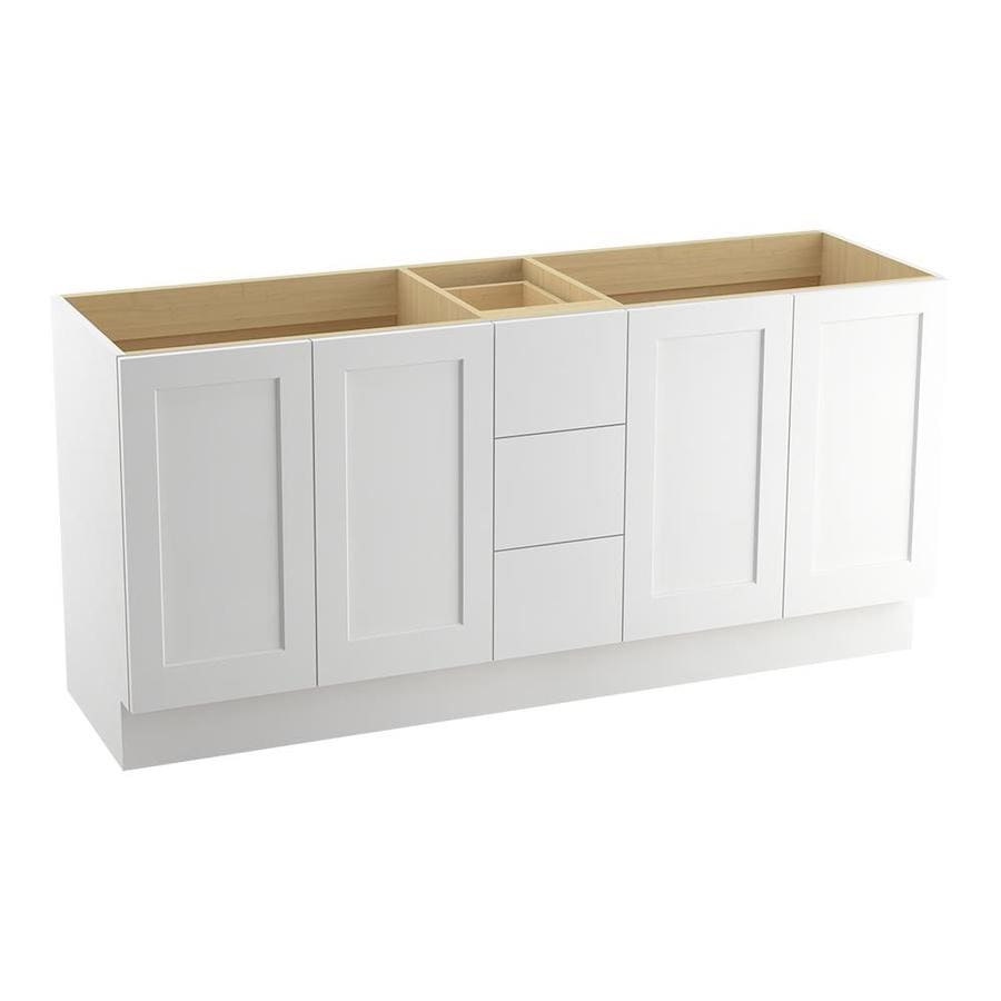 KOHLER Poplin Linen White (Common: 72-in x 22-in) Traditional Bathroom Vanity (Actual: 72-in x 21.875-in)