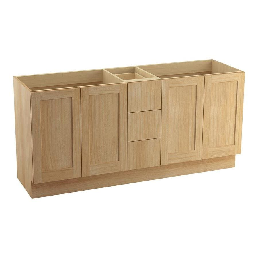 KOHLER Poplin Khaki White Oak Bathroom Vanity (Common: 72-in x 22-in; Actual: 72-in x 21.87-in)