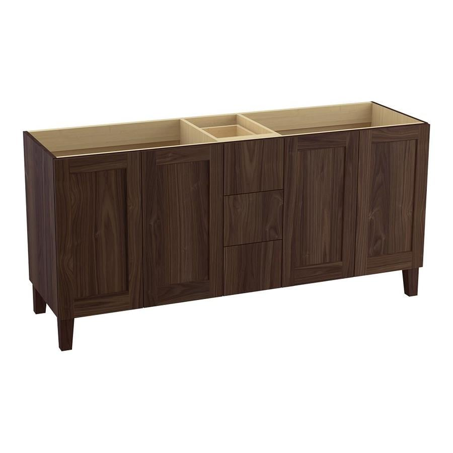 KOHLER Poplin Terry Walnut Bathroom Vanity (Common: 72-in x 22-in; Actual: 72-in x 21.87-in)
