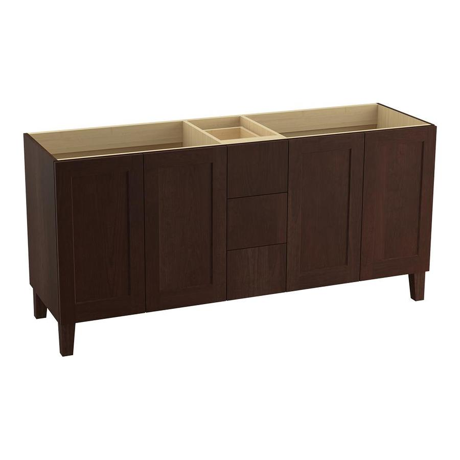 KOHLER Poplin 72-in Cherry Tweed Traditional Bathroom Vanity
