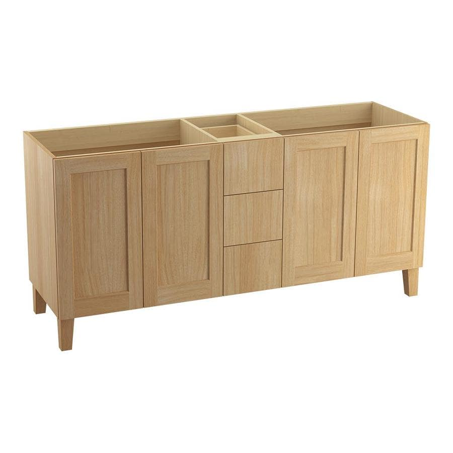 KOHLER Poplin Khaki White Oak 72-in Traditional Bathroom Vanity