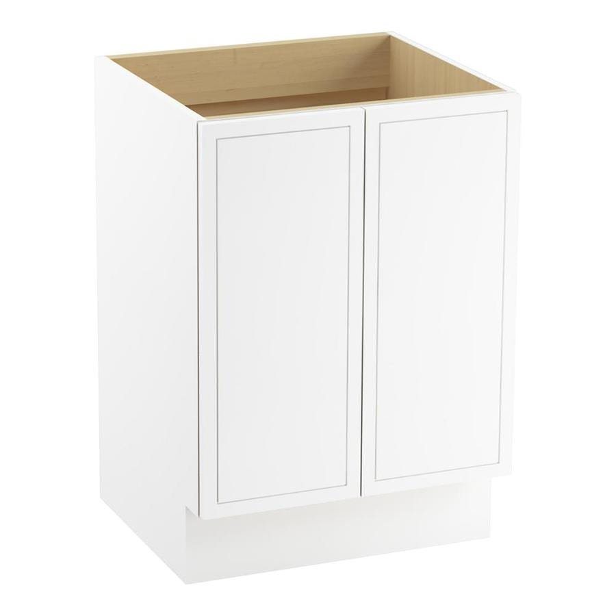 KOHLER Jacquard Linen White (Common: 24-in x 22-in) Traditional Bathroom Vanity (Actual: 24-in x 21.875-in)